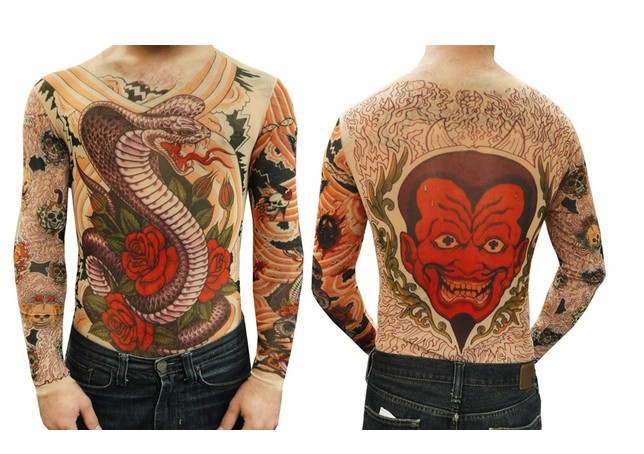 Unisex Cobra And Roses Full Body Tattoo Shirt Long Sleeves For Men/Women  Free Shipping 2018 New Fashion Summer