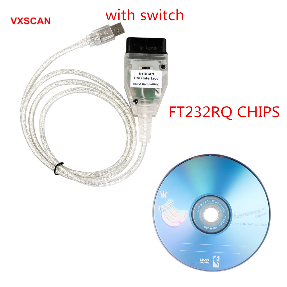 Best Qaulity INPA K+CAN K CAN INPA With FT232RQ Better Than FT232RL Chip with Switch for BMW INPA K DCAN USB Interface(China)