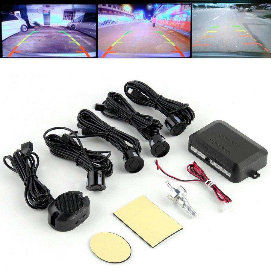 imágenes para KONNWEI Kit de Sensor de Aparcamiento LED Display 4 Sensores Del Coche 12 V para todos los coches Inversa Monitor de Reserva Del Radar del Sistema de Asistencia caliente venta