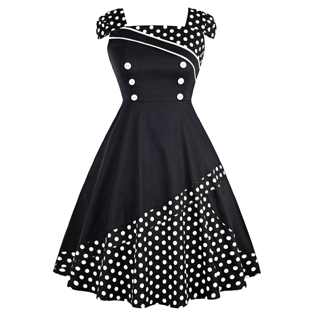 Aliexpress Buy Summer Dress Women 2018 Black White Retro Plus