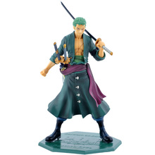 ONE PIECE Anime Action & Toy Figures 26cm POP Roronoa Zoro Three Knife Flow Toys for Children Adult Kids Birthday Christmas Gift