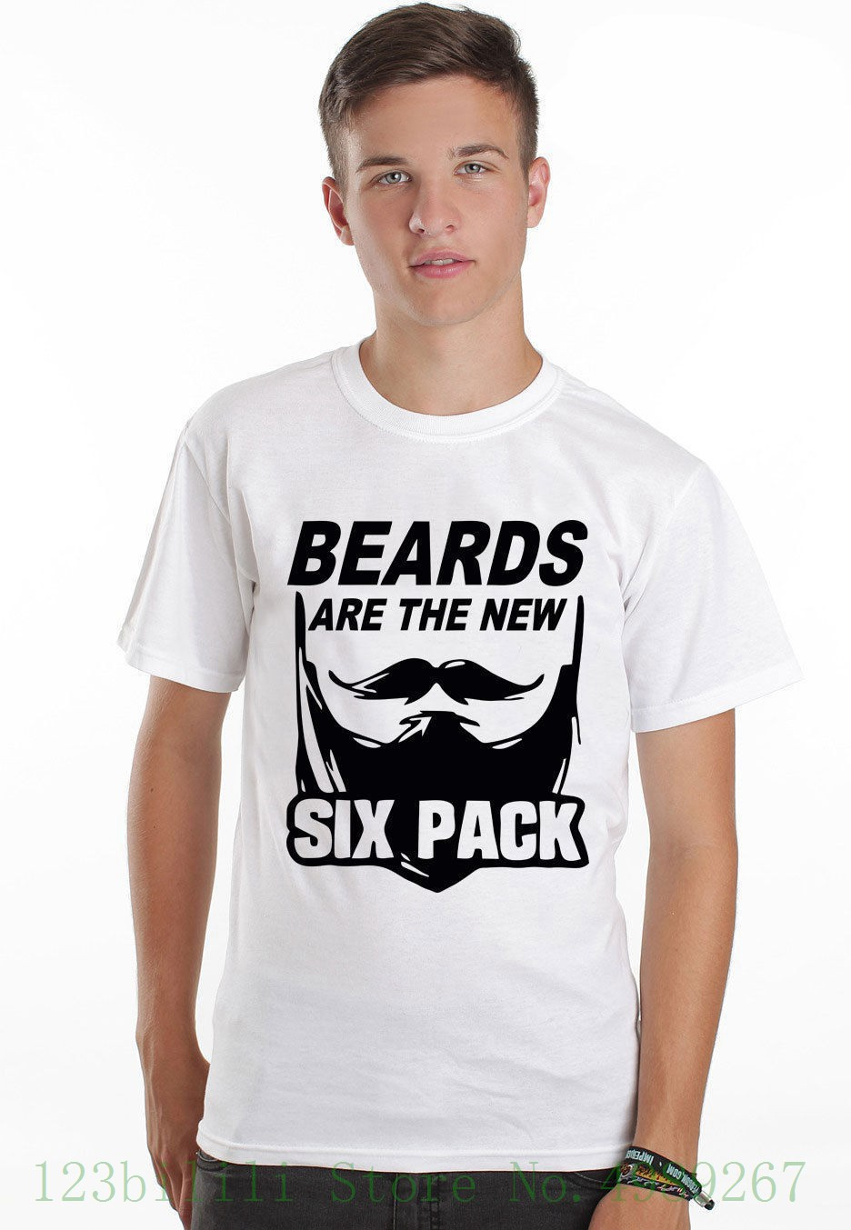 Beards Are The New Six Pack Muscle Funny Mens Barber <font><b>Shave</b></font> Full Colour T <font><b>Shirt</b></font> Cool Summer Tees image