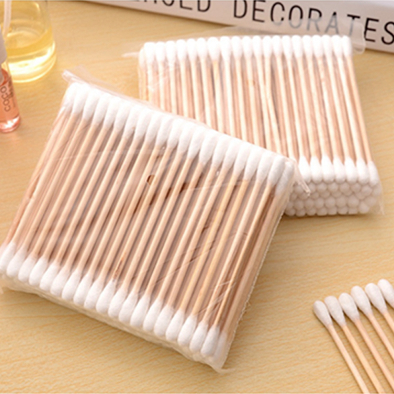 100pcs/Pack Bamboo Cotton Buds Cotton Swabs Medical Ear Cleaning Wood Sticks Makeup Health Tools Tampons Cotonete