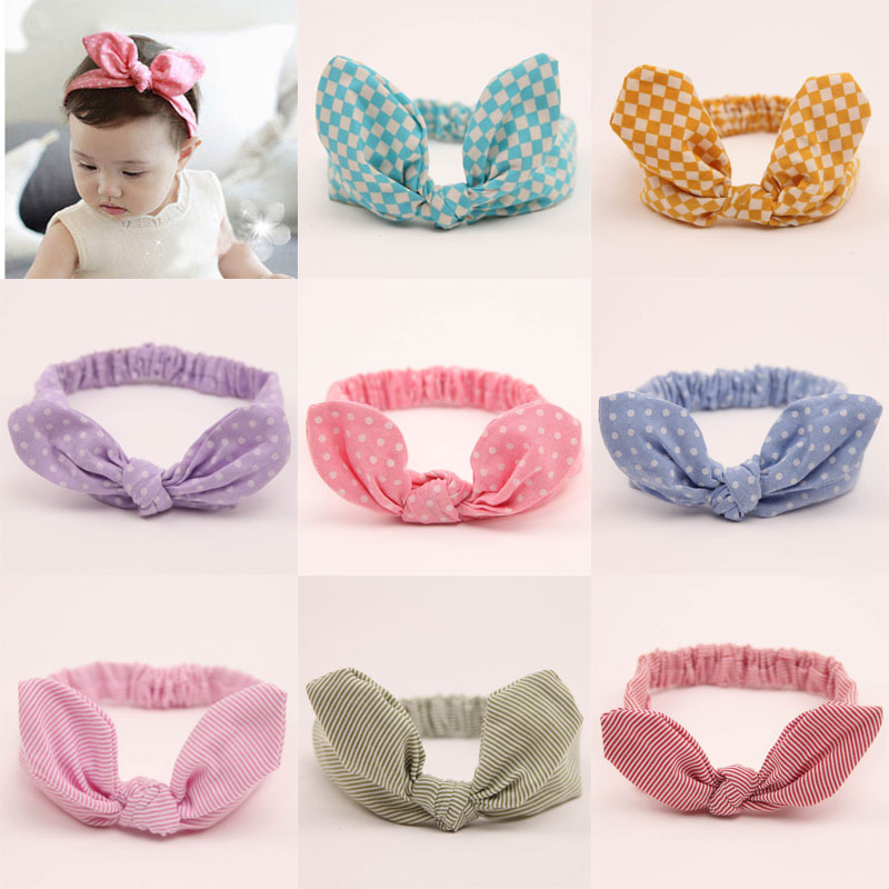 Newborn Bebe Knot Headband Hair Bow Bandeau Bebe Turban Kids Accessories Elastic Headbands Polka Dot Kids Hair Accessories metting joura vintage bohemian ethnic tribal flower print stone handmade elastic headband hair band design hair accessories