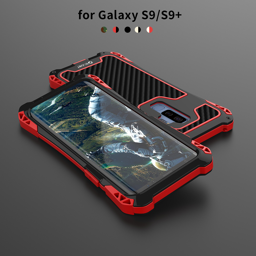best authentic 1ee59 5c3b2 US $17.57 |R JUST Camo Case For Samsung Galaxy S9/S9 Plus Luxury Metal  Aluminum Armor Waterproof Shockproof Powerful Case For Galaxy S9+-in Fitted  ...