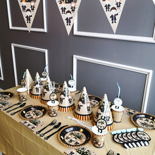Harri Potter Magic theme Birthday Party Disposable Tableware Set Halloween Decorations Boy and Girl Theme Ideas