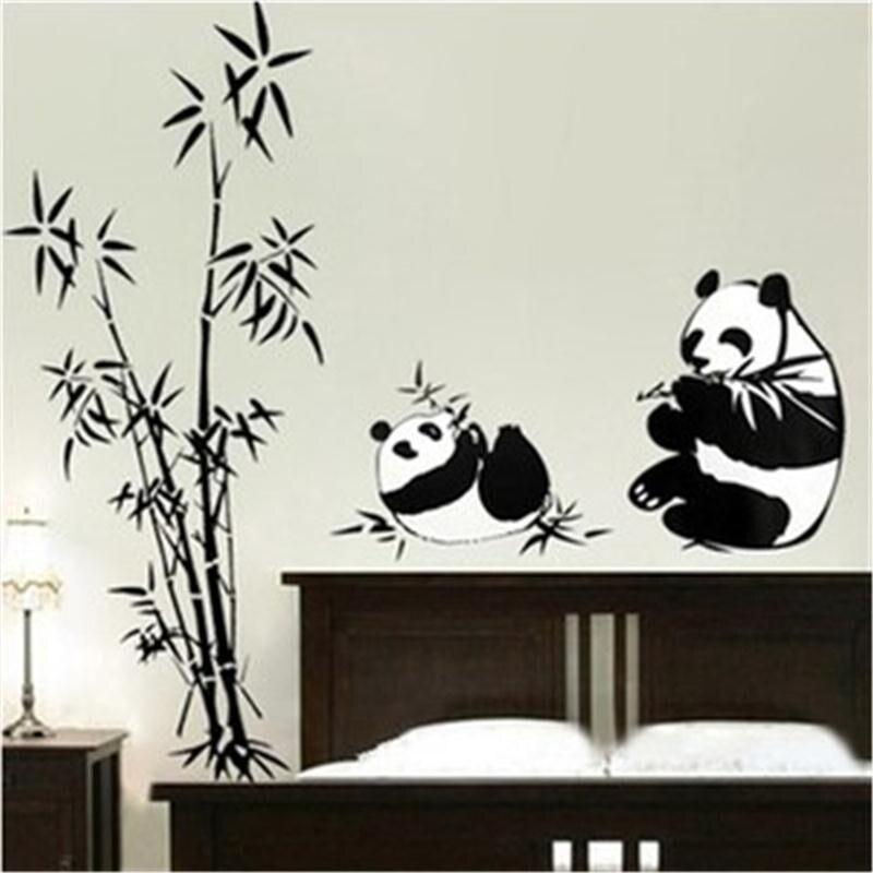 Croissance Hauteur Toise Panda Bambou Hauteur Plantes Mesure Stickers Muraux Pour Enfants Chambres Animaux Croissance Graphique Tableau Stickers Muraux Commutateur Art Mural-Autocollant Hauteur Panda