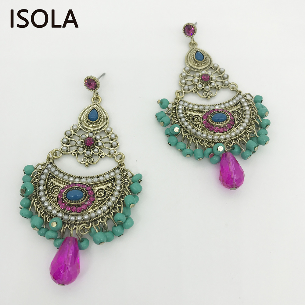 Charming Chandeliers That Make A Statement: ISOLA Statement Charming Rhinestone Water Drop Shape