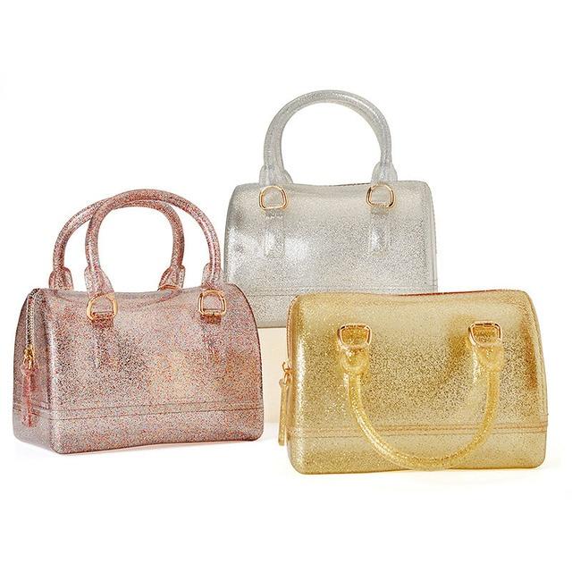 Kid S 18cm Pvc Jelly Handbag Children Pillow Shoulder Bag Candy Color Silicon