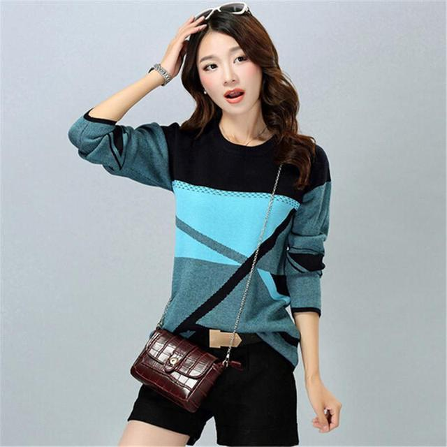 Free Shipping Women Casual O-Neck Cashmere Pullover Spring Autumn Winter Women Sweater Plus Size Bottoming Shirt