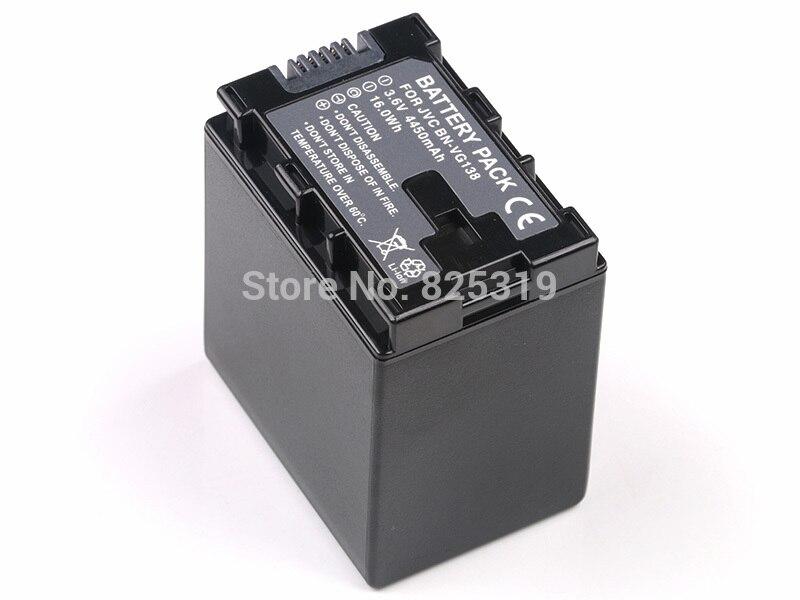 3.6 V 4450 mAh BN-VG138 Decoded Vidéo numérique Caméra DONNÉES Batterie pour JVC Everio BN-VG108E BN-VG114E BN-VG121E AA-VG1 AA-VG1E