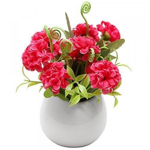 Ceramic Wall Flower Decor: White/Black/Red Teardrop Ceramic Pot 4 Inch Wall Ceramic