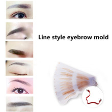 12pcs/pack Microblading Permanent Makeup Supplies Line Style Eyebrow Plastic Stencils Mold