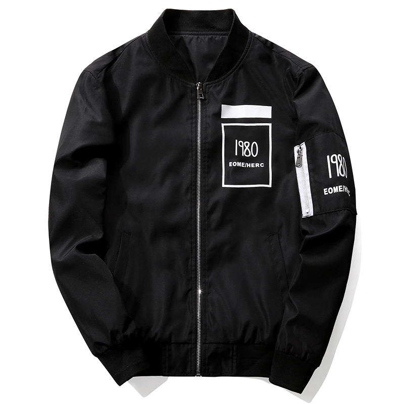 2017 New Men s Bomber Jacket Coat Letter Emboridary Mens Hip Pop Jacket Pilot Bomber Jackets