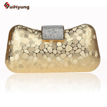 Free Shipping Women Hard Box Day Clutch Fashion Stone Pattern PVC Wedding Handbag Purse Diamond Evening Bag Shoulder With Chain