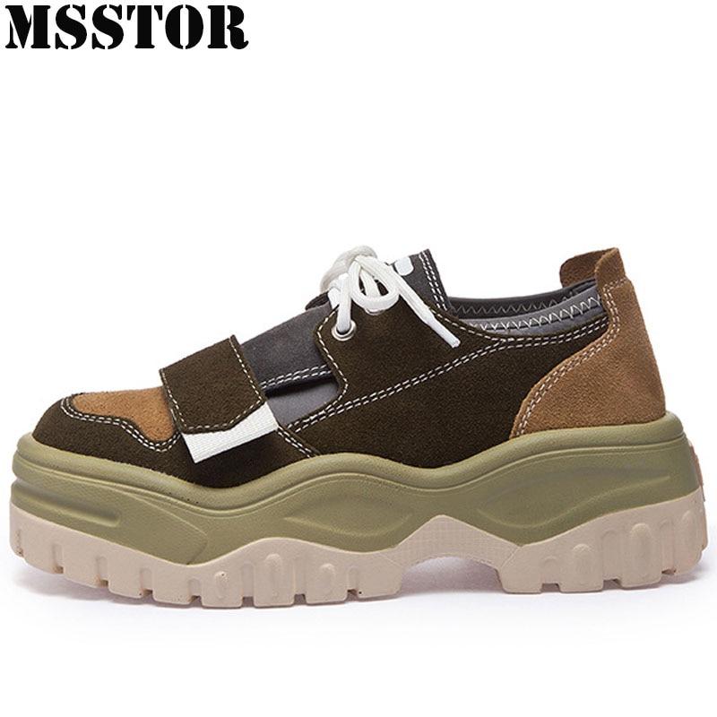 MSSTOR Nouveautés Hiver Sneakers Pour Femmes Printemps Automne Chaussures de Course Femme Marque Athletic Jogging Marche Dames Sneakers