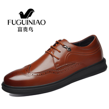 Luxury Italian Casual Men Brogue Shoes Genuine Leather