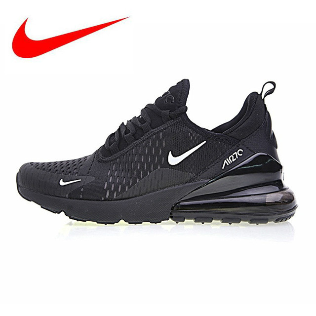 best website eab81 7a06a Nike Air Max 270 Chaussures de Course des Hommes, Bleu Noir, choc-absorbant