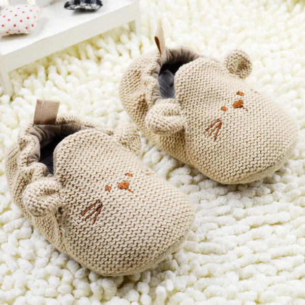 Toddler Knit Cartoon Mouse Crib Shoes Lovely Elastic Baby Kids Mice Soft  Shoes-in First Walkers from Mother   Kids on Aliexpress.com  4ff0f1092612
