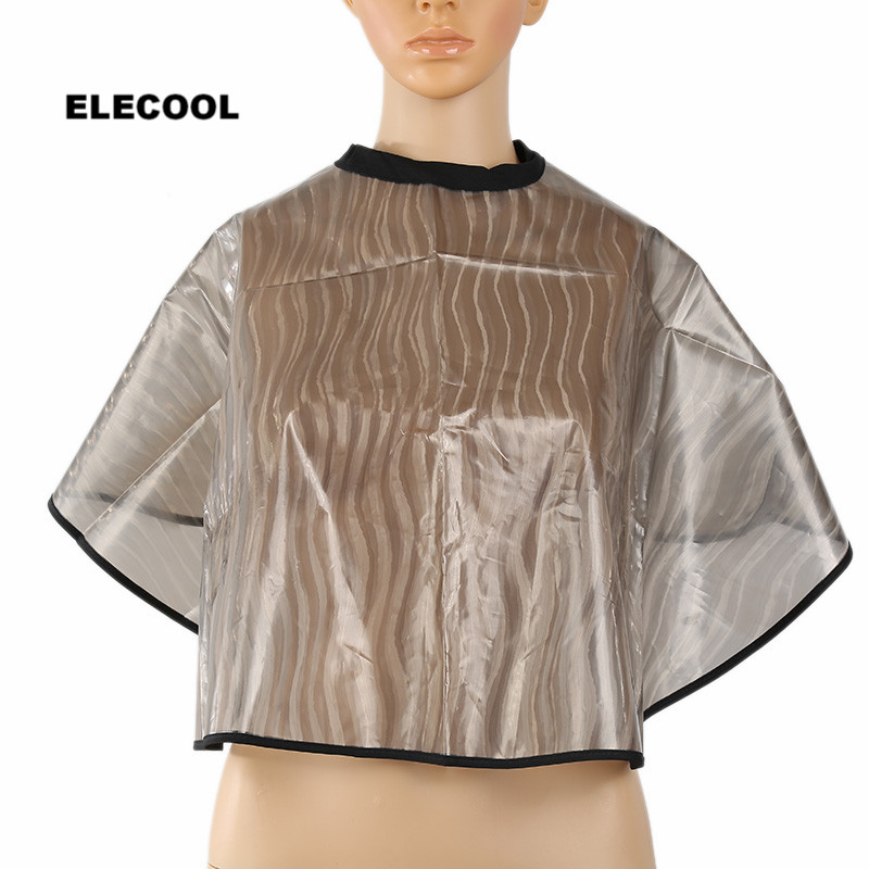 ELECOOL PVC Waterproof Salon Barber Gown Cape Anti Static Folding Dyeing Perming Hairdressing Cape Haircut Accessories