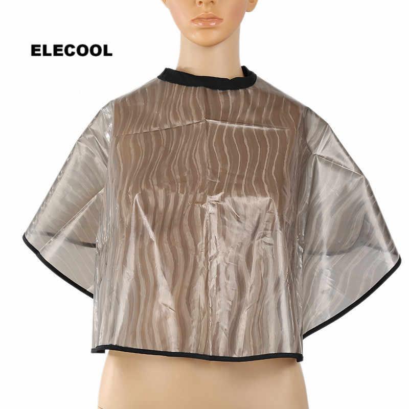 Elecool pvc à prova dwaterproof água salão de beleza barbeiro vestido cabo anti estática dobrável tingimento perming cabeleireiro cape hairdressing acessórios