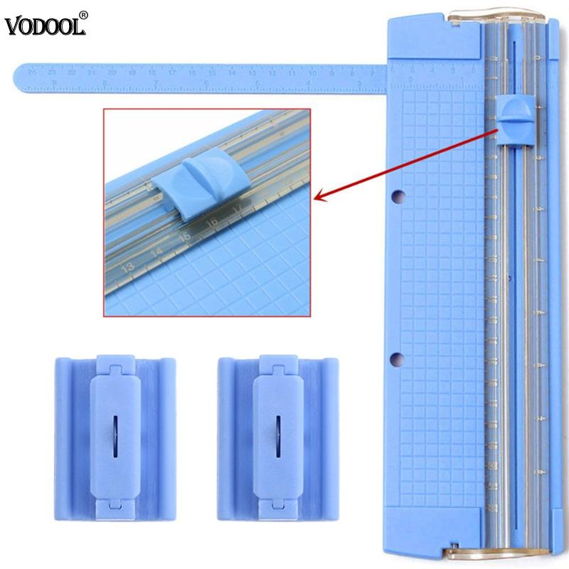 VODOOL Portable A4 Precision Paper Trimmer Card Photo Blade Cutter Cutting Mat Blade School Office Cut Kit Supplies Stationery