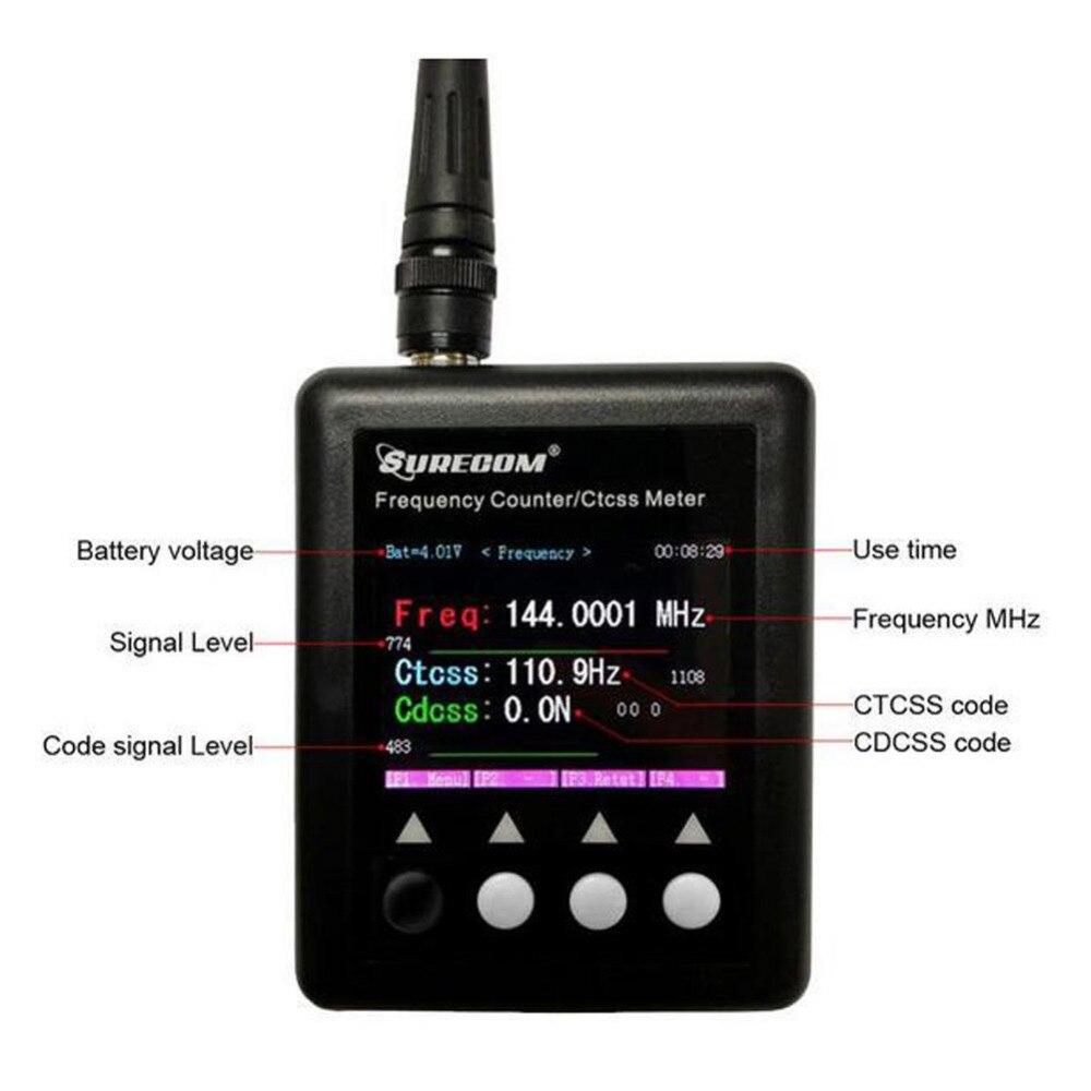 SURECOM fréquencemètre SF401Plus Compteur de Fréquence 27 Mhz-3000 Mhz Radio Fréquence Compteur compteur avec CTCCSS/DCS Décodeur SF-401
