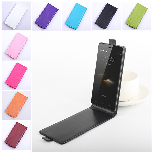 Galleria fotografica 9 Couleurs Homtom HT7 En Cuir Case Portable Case Flip Cover Up and Down Couverture Smartphone Doogee Homtom HT7 Shell Peau