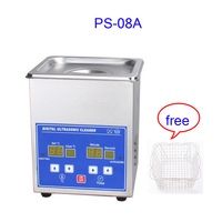 1.3L Digital Timer Heating Temperature control stainless steel ps 08A Ultrasonic cleaner for ULT ink cartridge cleaning machine