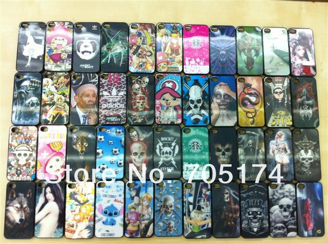 3D picture Theme Hard Back Cover Cases & Pouches for iPhone 4G 4S mix order Free ship Via EMS