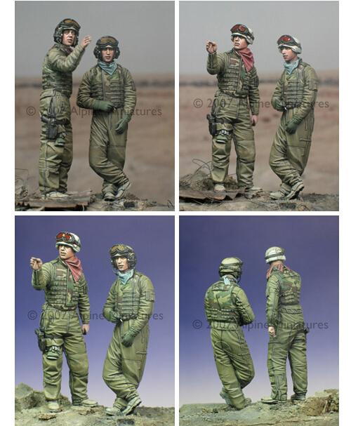 Os Kits de resina 1/35 Escala Moderna Americano tripulação do tanque soldados Resina Modelo DIY BRINQUEDOS