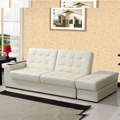 Leather Sofa Foreign Trade Office Multifunction Small Apartment Living Room  Modern Minimalist Folding Sofa Bed With