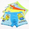3 unids/lote muchachos de la ropa interior niños Minions lindo calzoncillos bragas chicos Cartoon boxeadores 5 colores