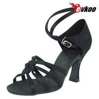 Evkoo Dance Salsa Woman Dance Shoes 7cm Heel Can Be Custom Black Khaki Leopard Sexy Color