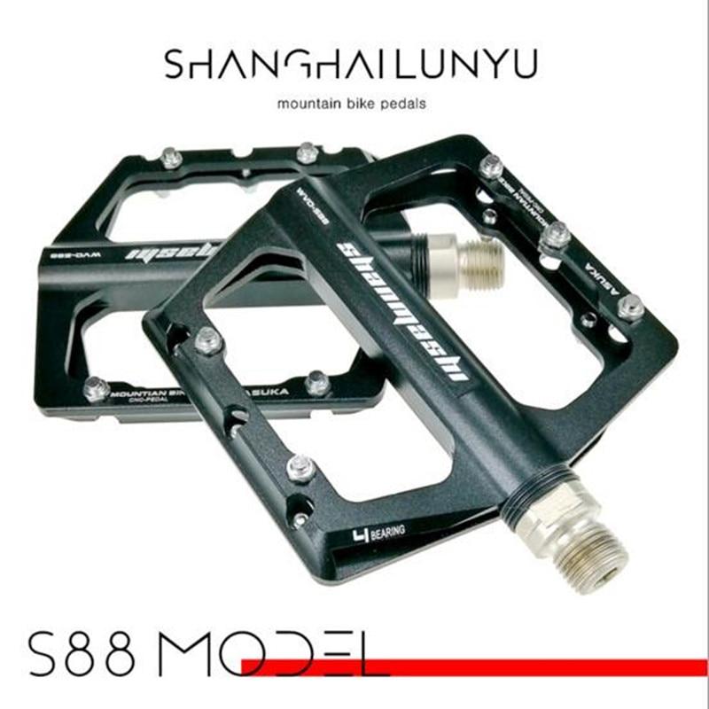 1pair 4 Bearings Aluminum alloy CNC Bicycle Pedal Anti-slip Ultralight MTB BXM Mountain Bike Pedal Sealed Bearing Pedals