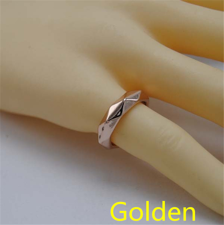 Fashion Fashion idol inspired by celebrities star EXO gold jewelry engraved stainless steel EXO Kpop k-pop jewelry finger ring