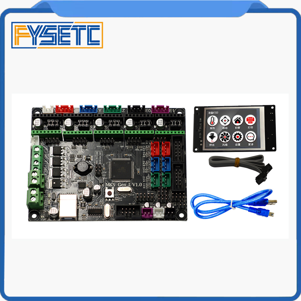 1 Set Controller PCB Board MKS Gen-L V1.0 Integrated Mainboard Compatible Ramps1.4/Mega2560 R3 With MKS TFT32 3.2'' Touch Screen mks gen l v1 0 integrated mainboard mks gen l v1 0 compatible ramps1 4 mega2560 r3 mks tft32 3 2 touch screen