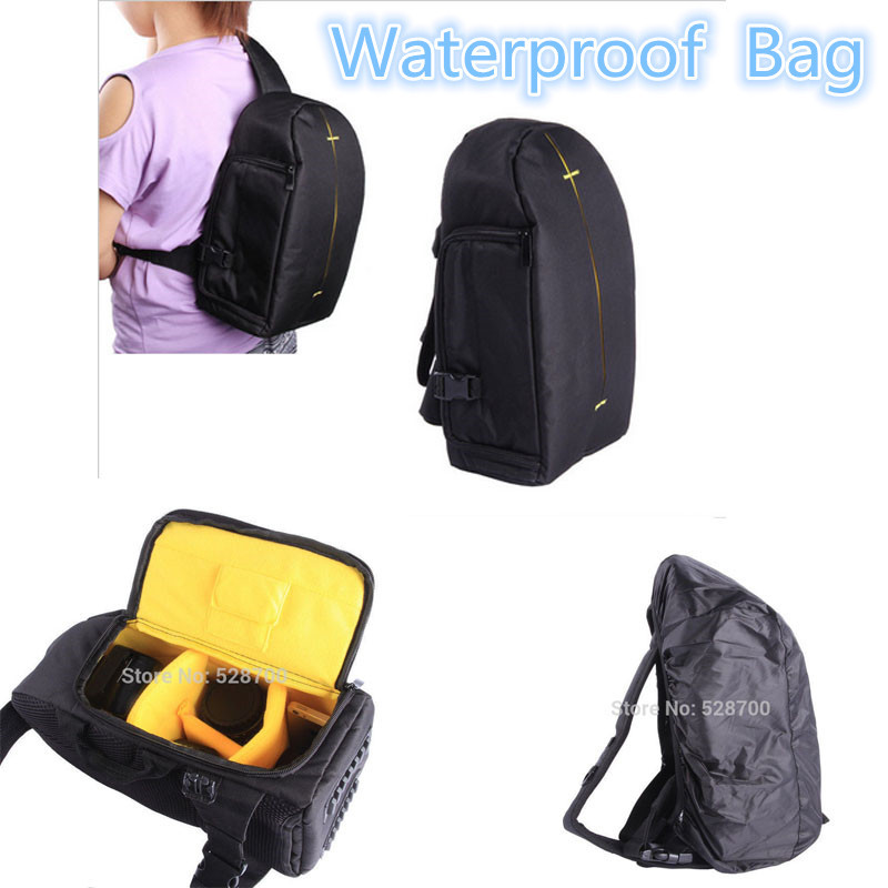 DSLR/SLR Camera Bag Case for <font><b>Canon</b></font> EOS 100D 550D 600D 700D 750D <font><b>60D</b></font> 70D 5D 1300D 1200D 1100D Waterproof Shoulder Bag <font><b>Cover</b></font> Case image