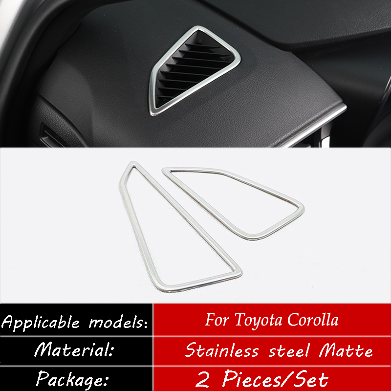 For Toyota Corolla 2019-2020 Matte red inner rear water cup cover trim 1PCS