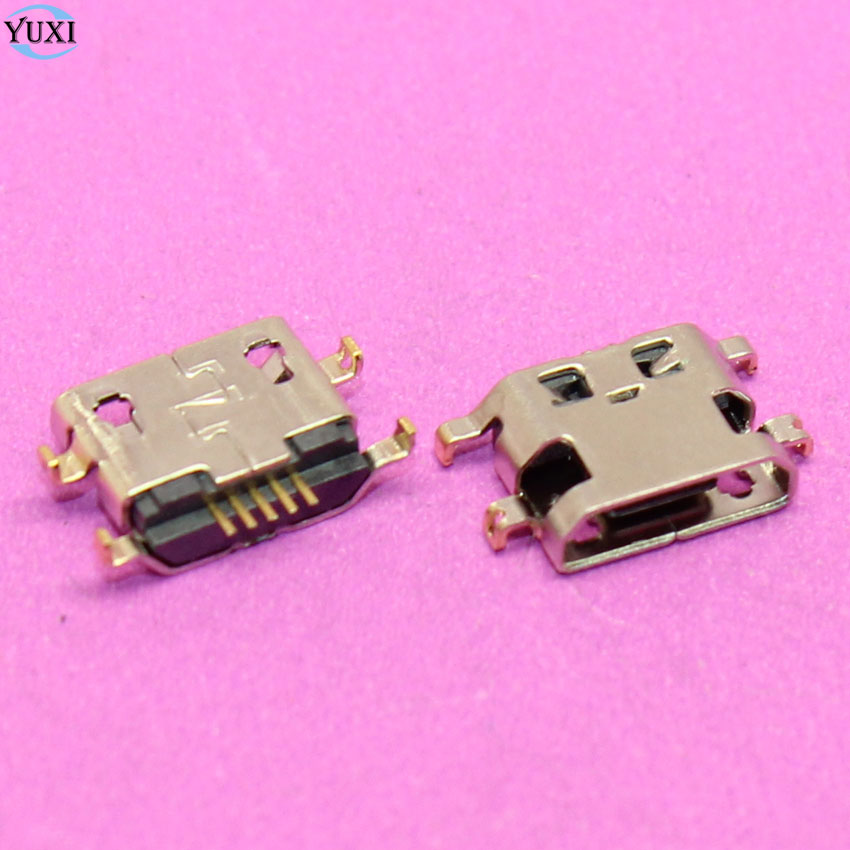 10pcs Micro USB Jack 5pin B Type Connector For Huawei G7 Lenovo A708T S890 Alcatel 7040N 5 Pin Charger Dock Charging Port Socket