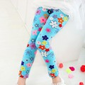 1pc retail free shipping children long sleeve fashion flower print pants kids pants girl legging