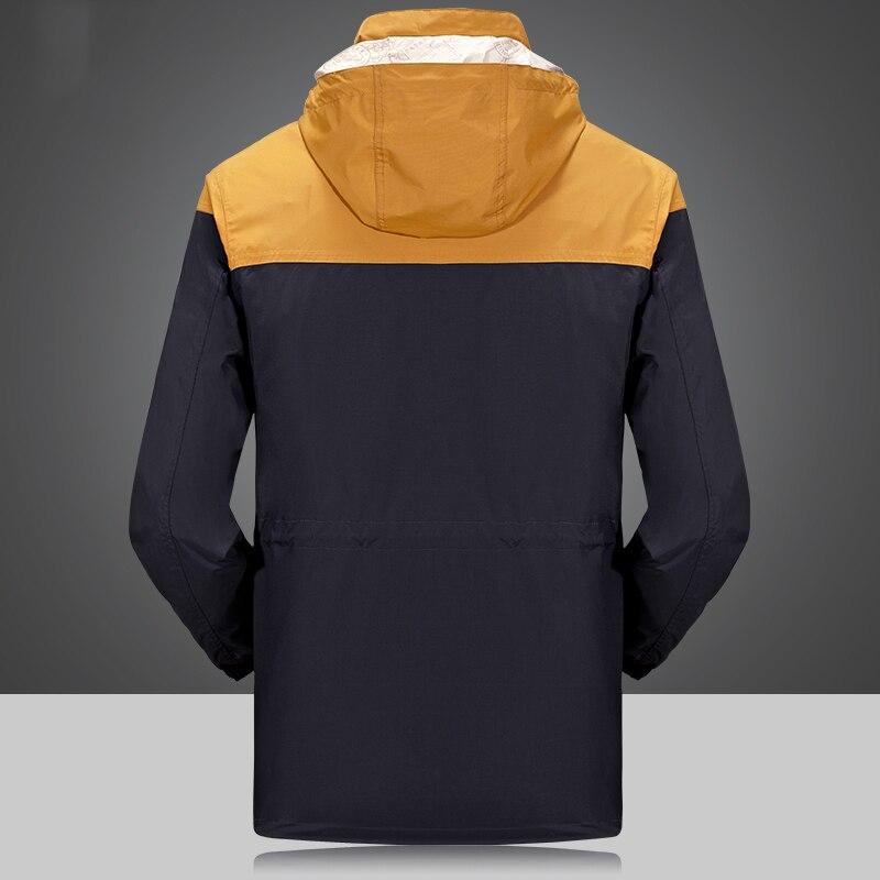 2 Piece Men's Winter duck down jacket man top quality detachable waterproof windbreaker outwear 90% white duck down coat men 4XL - 2