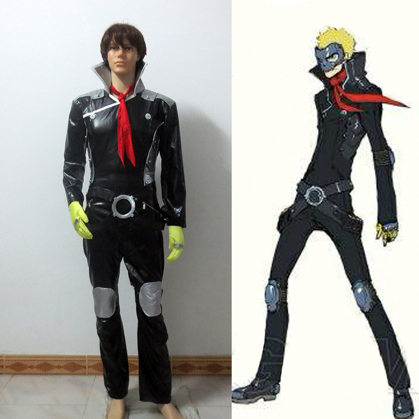 Persona 5 Ryuji Sakamoto Cosplay Sakamoto Ryoji Cosplay Costume Outfit Attire Combat suit Halloween Carnival Costumes