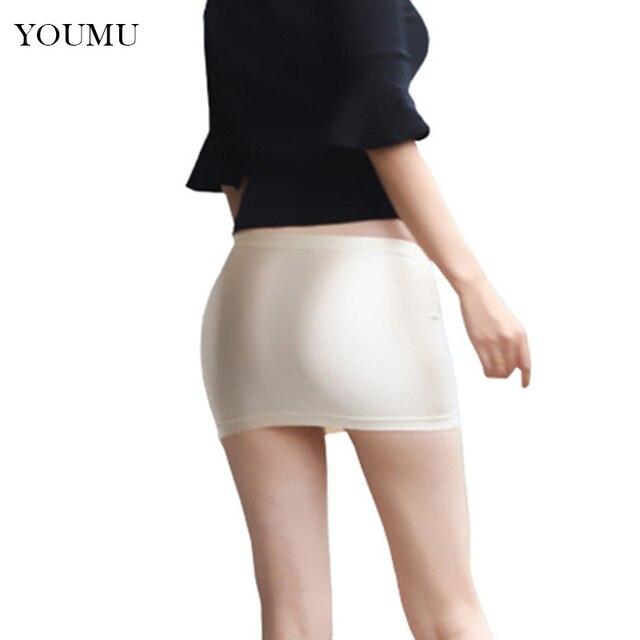 3b6fda198 € 9.01 45% de DESCUENTO Minifalda Bodycon de mujer con cintura caída lápiz  Sexy Club sólido faldas cortas negro champán fiesta ropa de noche de ...