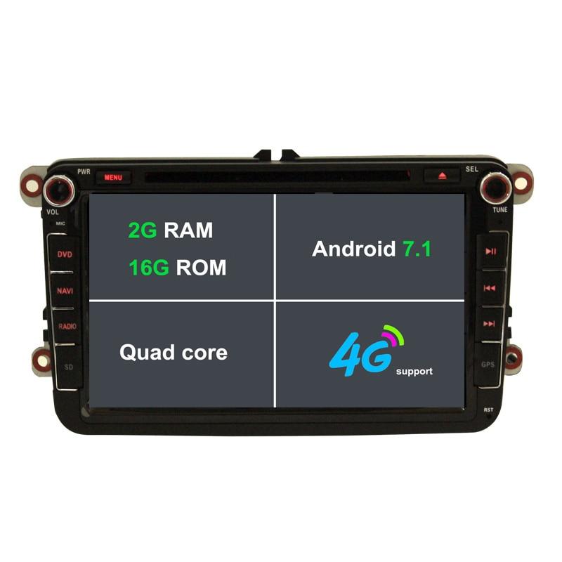 2G RAM Android 7 1 Car font b Radio b font DVD GPS Bluetooth For VW