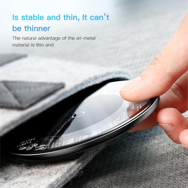 Baseus 10 w Qi Sans Fil Chargeur pour iPhone X/8 Visible Rapide Sans Fil De Charge pad pour Samsung S9/ s9 + S8 Note 9 9 + 8 Xiaomi Huawei 1