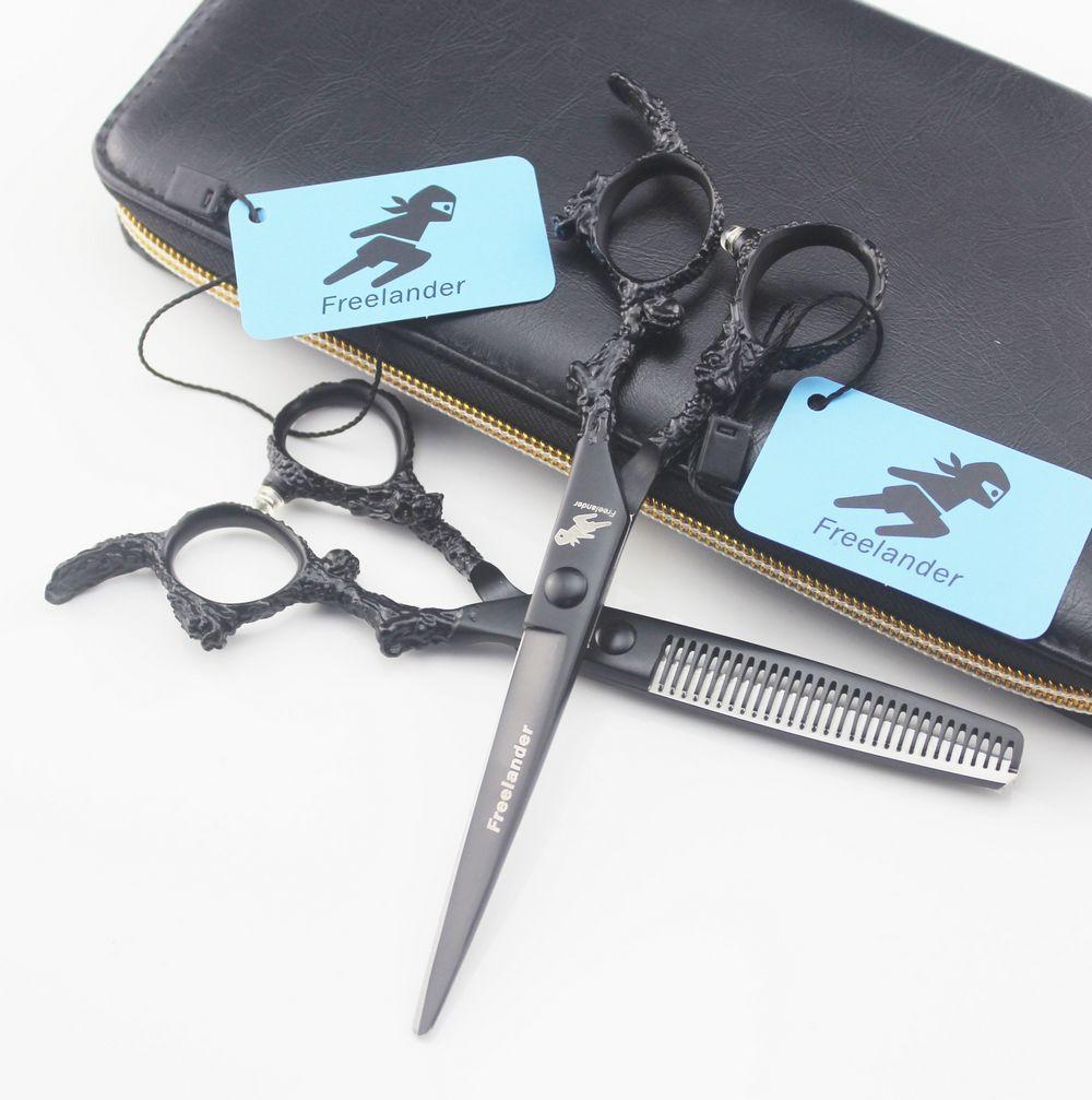 Freelander 5.5 INCH 6 Hair Cutting Scissors Hairdressing Professional Thinning Shear Barber