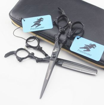 Freelander 5.5 INCH 6 Hair Cutting Scissors Hairdressing Professional Thinning Shear Barber