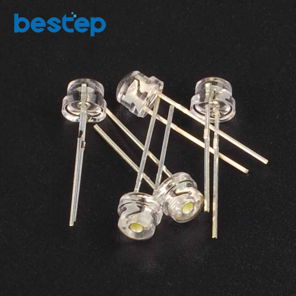 100PCS Straw Hat White 5mm Super Bright White Light-emitting Diode DIP LED Straw Hat Astigmia