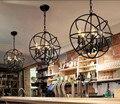 Северный Лофт стиль ретро черный железный Глобус подвесной светильник деревенский промышленный кофе магазин ресторан бар Подвесная лампа